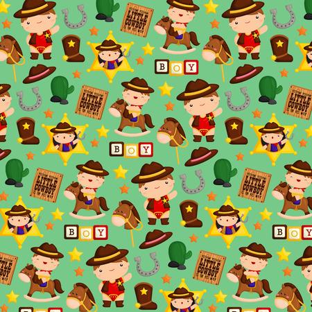Cowboy Kids Background
