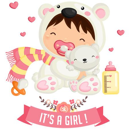 Bebé Oso Polar Ilustración de vector