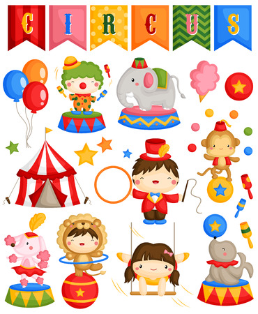 Carnaval Circus Vector Stock Illustratie