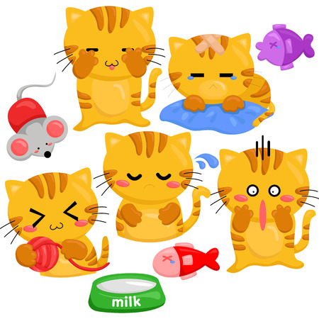 cartoon animal: Cats and Toys