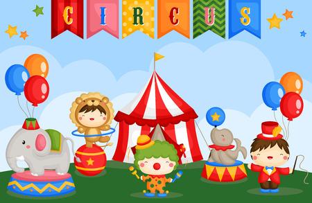 fondo de circo: Carnaval Día del Circo