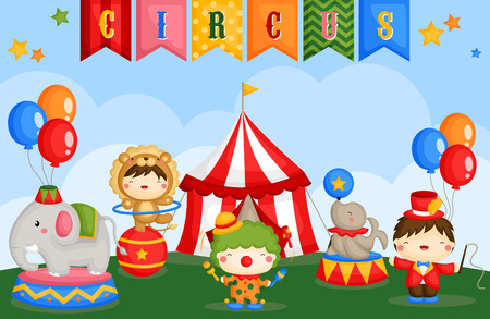 Carnival Circus Day 向量圖像