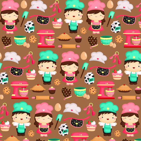 Baker Background Vector