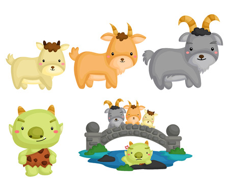 Billy Goats Gruff Illustration