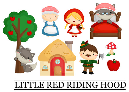 girl in red dress: Little Red Riding Hood