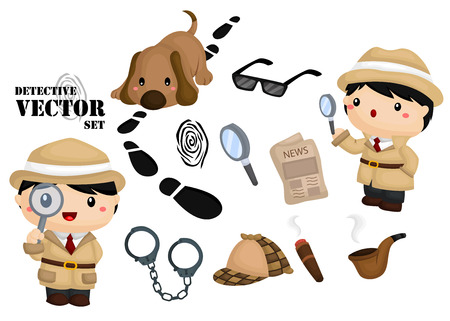 a hat: Detective Vector Set