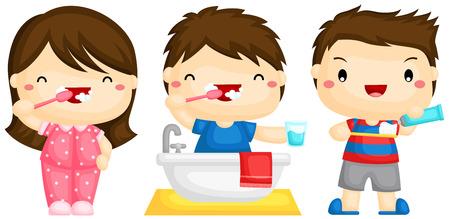 Brosse dents Enfants Banque d'images - 40382127