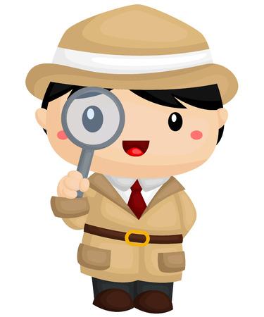 El detective Foto de archivo - 40630519