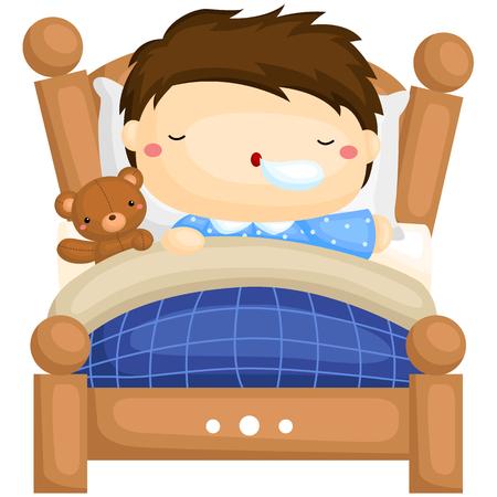 kid illustration: Boy Sleeping Illustration