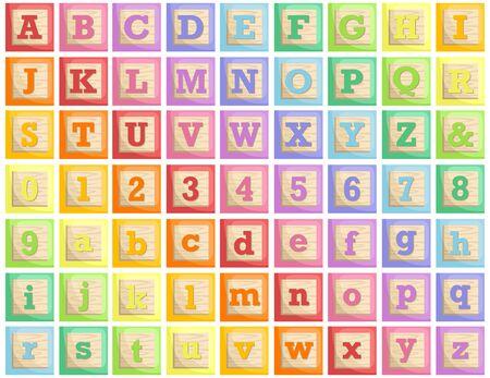 wooden block: Wooden Block Alphabet