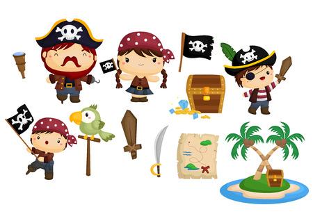 Pirate Vector Set Illustration