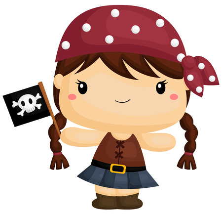 pigtails: Girl Pirate