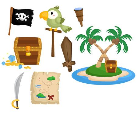 isla del tesoro: Herramientas Pirate Vectores