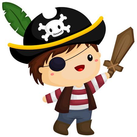 eyepatch: Boy Pirate Illustration