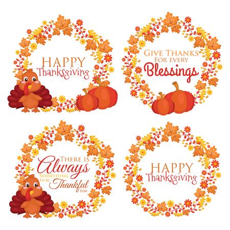 pumpkins: Happy Thanksgiving Illustration
