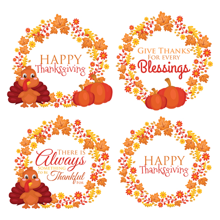 is falls: Happy Thanksgiving Illustration