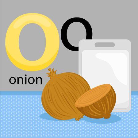 O for Onion Illustration