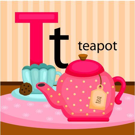 snack time: T for Teapot Illustration