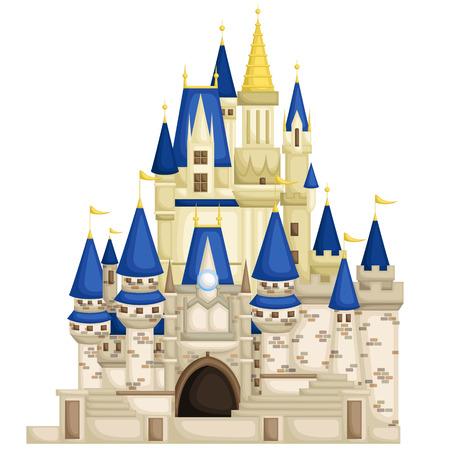 王国の城  イラスト・ベクター素材
