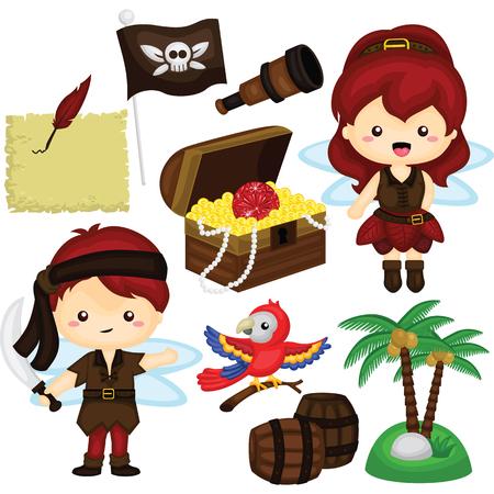 fairy: Pirate Fairy Vector Set