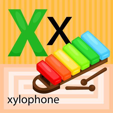 xilofono: X para xilófono