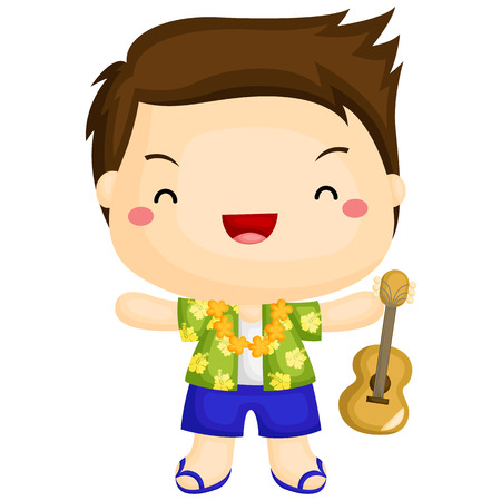 ukulele: Hawaii Boy Illustration