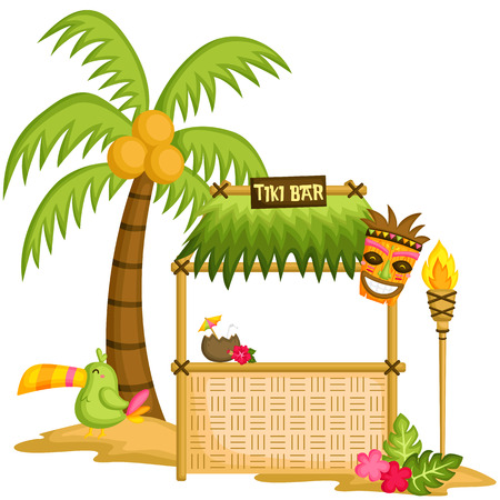 tropical bird: Tiki Bar