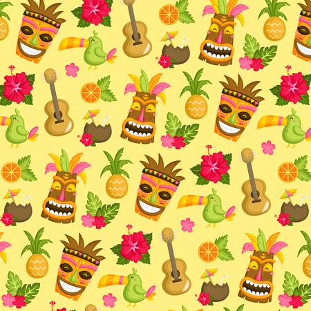 Hawaï Luau Achtergrond Stock Illustratie