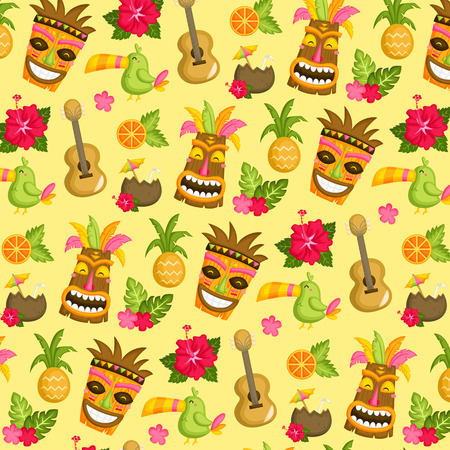 Hawaii Luau Background Illustration