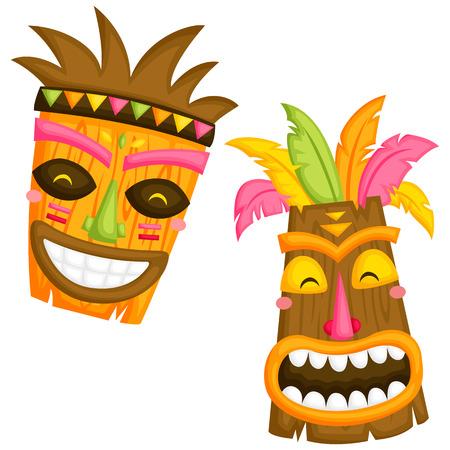 989 tiki mask stock illustrations cliparts and royalty free tiki rh 123rf com hawaiian tiki clipart tiki mask clip art