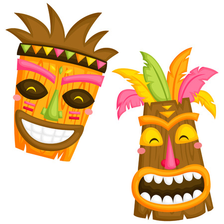 1,126 Tiki Mask Stock Illustrations, Cliparts And Royalty Free Tiki ...