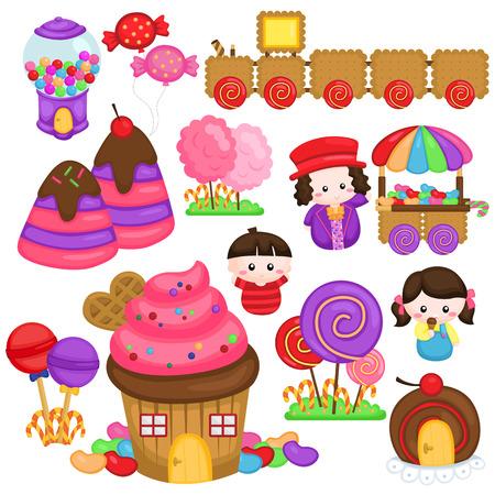 vector illustration: Candyland Vector Set