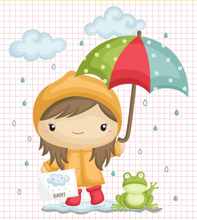 red frog: Rainy Weather