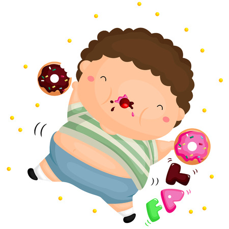 kid smile: Fat Body Illustration