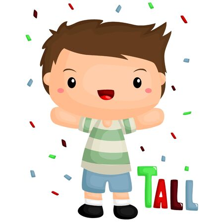 kid smile: Tall Body Illustration