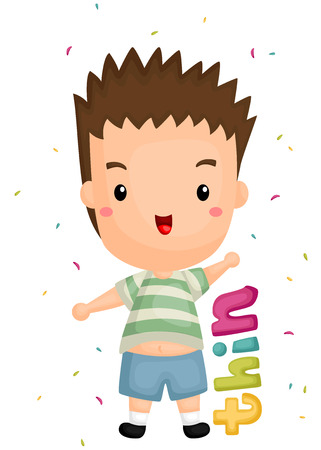 spiked hair: Thin body Illustration