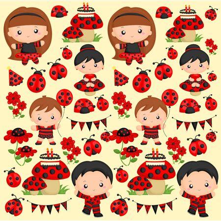 ladybug: Ladybug Party Background