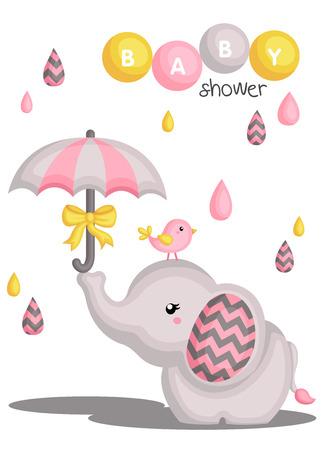 Elefant-Babyparty Standard-Bild - 46561475