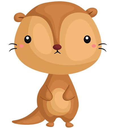 sea otter: Standing Otter Illustration