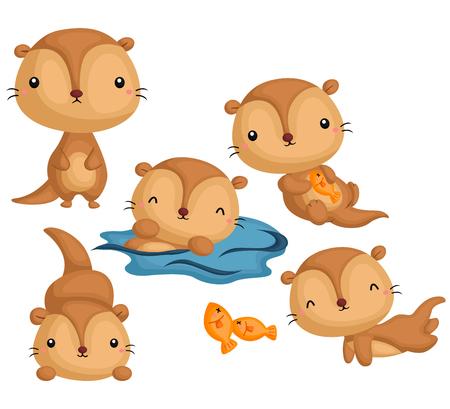 Otter Vector Set