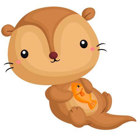 otter: Otter and Fish