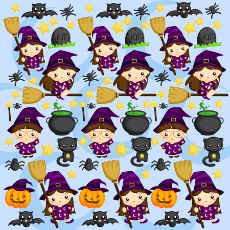 halloween background: Halloween Witch Background