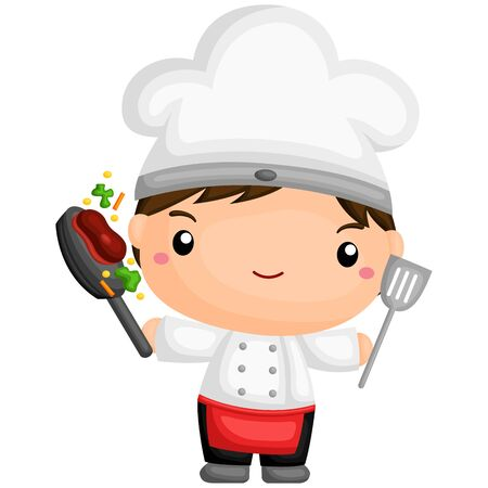 vegetable cook: Cute Chef
