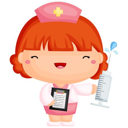 pielęgniarki: Cute pielęgniarka Ilustracja