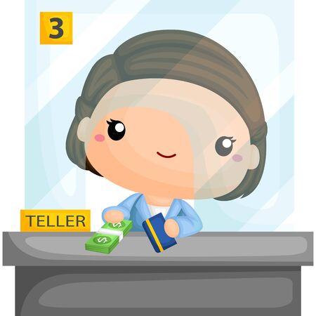 bank book: Bank Teller