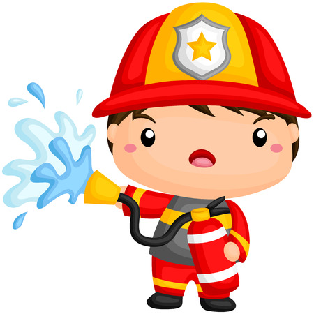 fireman: Cute Fireman Illustration