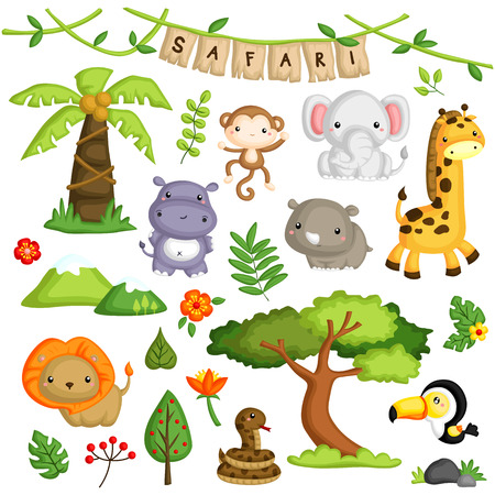 Safari Forest Animal Vector Set 向量圖像