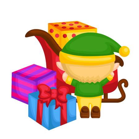 arrange: Little elf arrange the presents