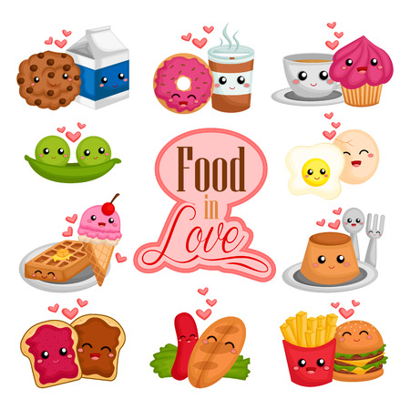 Couple of foods in love