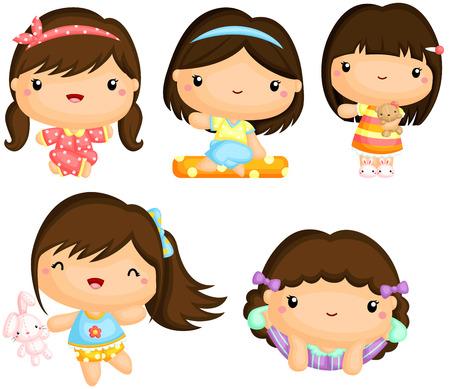 hairclip: Girls in Pajamas